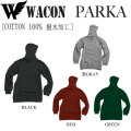 代引料無料 16-17 WACON PARKA ワコン スノーボードウェア パーカー ウェア
