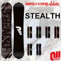 17-18 011 artistic STEALTH ゼロワンワン ステルス [147-152] スノーボード キャンバーボード グラトリ 板