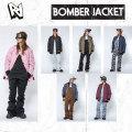 代引手数料無料 17-18 AA HARDWEAR BOMBER JACKET ボンバー ジャケット レディース スノーボードウェア wear スノーウェア