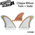 """[9月30日まで期間限定価格] CAPTAIN FIN  キャプテンフィン CHIPPA WILSON TWIN + STABI 5.7"""" ショートボード用"""