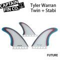 """[9月30日まで期間限定価格] CAPTAIN FIN  キャプテンフィン TYLER WARREN TWIN + STABI 5.51"""" ショートボード用"""