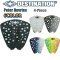 [follow's特別価格] [送料無料] DESTINATION ディスティネーション サーフィン用デッキパッド Peter Devries ピーター・デブリス 4ピース デッキパッチ