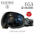 エレクトリック ゴーグル EG3 VOLCOM JET BLACK 16-17 ELECTRIC ゴーグル ボルコムコラボ 正規品 JAPAN FIT アジアンフィット <br>【あす楽対応】