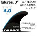 future fin フューチャーフィン TECH FLEX 2.0 JOHNJOHN ジョンジョン・フローレンス Sサイズ トライフィン 3枚セット 軽量 ハニカム カーボン