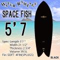 [即出荷可能][送料無料] WATER RAMPAGE  ウォーターランページ サーフボード SPACE FISH 5'7 BLACK ショートボード ソフトボード フィッシュ スポンジボード