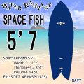 即出荷可能【送料無料】WATER RAMPAGE  ウォーターランページ サーフボード SPACE FISH 5'7 NAVY ショートボード ソフトボード フィッシュ スポンジボード