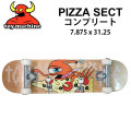 TOY MACHINE トイマシーン スケートボード コンプリート PIZZA SECT#03 (31.25x 7.875) 完成品スケボー SKATE