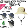 2018 TAVARUA タバルア サーフハット  [TL1203A]  LADIES  レディース プレミアム ビーチハット ワイドタイプ アウトドア 帽子 ハット 日本製