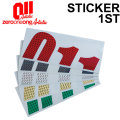 18-19 011 artistic ゼロワンワンアーティスティック ステッカー 1ST ファースト プリズム素材 スノーボード カッティング ステッカー
