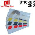 [継続モデル] 18-19 011 artistic ゼロワンワンアーティスティック ステッカー 2nd セカンド スノーボード カッティング ステッカー