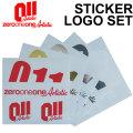 18-19 011 artistic ゼロワンワンアーティスティック ステッカー LOGO SET ロゴセット スノーボード カッティング ステッカー