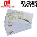 18-19 011 artistic ゼロワンワンアーティスティック ステッカー SWITCH スウィッチ スノーボード カッティング ステッカー
