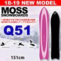 [送料無料] 18-19 MOSS SNOWBOARD モス スノーボード Q51 151cm キュー パウダー レディース 板