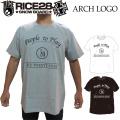 RICE28 半袖 Tシャツ ARCH LOGO ライス28スノーボード メンズ tシャツ