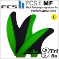 [店内ポイント最大20倍!!] [送料無料] FCS2 フィン MF PC TRIフィン GREEN [LARGE] ミックファニング シグネチャー MICK FANNING パフォーマンスコア トライフィン