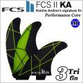 [店内ポイント最大20倍!!] [送料無料] FCS2 フィン KA PC TRIフィン GREY/YELLOW [MEDIUM] Kolohe Andino コロヘ・アンディーノ パフォーマンスコア トライフィン
