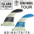 [follows特別価格] ISLAND FINS アイランドフィン GENKIモデル GENKI PRO TOUR 喜納元輝プロモデル ロングボード用センターフィン ロングボード ミッドレングス フィン