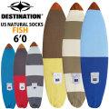 サーフボードケース ニットケース フィッシュボード 6'0 DESTINATION US Natural Socks FISH ニットカバー ディスティネーション