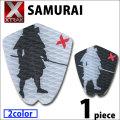 デッキパッド ショートボード用 X-TRAK エックストラック SAMURAI 1ピース デッキパッチ デッキパット サーフィン