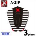 デッキパッド ショートボード用 X-TRAK エックストラック A-ZIP 3ピース デッキパッチ デッキパット サーフィン