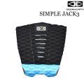 [1点限り] サーフィン デッキパッド OCEAN&EARTH シンプルジャック SIMPLE JACK3ピース ショートボード用 オーシャン&アース