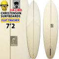 [follows40周年記念特別価格] クリステンソン サーフボード christenson surfboards フラットトラッカー FLAT TRACKER 7'2 シングルフィン [Clear クリア] サンディング仕上げ ツヤなし ファンボード ミッドレングス [条件付き送料無料]
