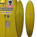 [follows40周年記念特別価格] クリステンソン サーフボード christenson surfboards フラットトラッカー FLAT TRACKER 7'6 シングルフィン [Olive Tint] サンディング仕上げ ツヤなし ファンボード ミッドレングス [条件付き送料無料]