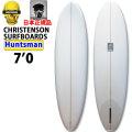 クリステンソンサーフボード CHRISTENSON SURFBOARDS Huntsman ハンツマン 7'0 シングルフィン [Clear] サンディング仕上げ ツヤなし ファンボード ミッドレングス 正規品 [条件付き送料無料]