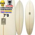 クリステンソン サーフボード CHRISTENSON ツイントラッカー TWIN TRACKER 7'0 ツインフィン [Clear] サンディング仕上げ ツヤなし ファンボード ミッドレングス [条件付き送料無料]