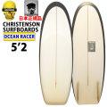 CHRISTENSON クリステンソン サーフボード Ocean Racer 5'2 オンフィン [CLR BLACK RAIL] ツヤ無し ショートボード トランジッションボード ミニシモンズ [条件付き送料無料]