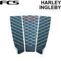 [在庫限りfollows特別価格] デッキパッド ロングボード用 FCS エフシーエス HARLEY INGLEBY ハーレーイングルビー 3ピース デッキパッチ デッキパット サーフィン ショート用