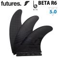 future フィン フューチャー フィン BETA R6 [Medium] Mサイズ CARBON Vapor Core カーボン 超軽量 ショートボード フィン トライフィン 3枚セット