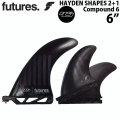 future fin フューチャー フィン ヘイデンシェイプス Haydenshapes HS 2+1 6インチ コンパウンド6 ロングボード ミッドレングス