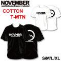 2019 NOVEMBER ノベンバー スノーボード T-MTN [17] [18] コットンTシャツ 半袖 Tシャツ ユニセックス