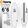 TORQ SurfBoard トルク サーフボード POD MOD 6'6 [WHITE PINLINE GRAYロゴ] AL MERRICK アルメリックサーフボード [条件付き送料無料]