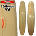 [follows40周年記念特別価格] TYLER SURFBOARDS タイラー サーフボード 164 Model 9'6 Grey SINGLE FIN シングルフィン ロングボード [条件付き送料無料]