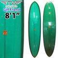 Tyler Warren Surfboards タイラーウォーレン サーフボード Girl Friend 8'1 SINGLE FIN シングルフィン ファンボード ミッドレングス [条件付き送料無料]