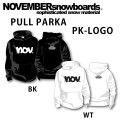 2018 NOVEMBER ノベンバー スノーボード PULL PARKA [10][11] PK LOGO プルパーカー 長袖 パーカー ユニセックス