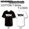 2018 NOVEMBER ノベンバー スノーボード T-LOGO [1] [2] コットンTシャツ 半袖 Tシャツ ユニセックス