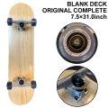 スケートボード followsオリジナル コンプリート [7.5×31.0インチ] BLANK DECK ブランクデッキ 無地 スケボー SK8 組み立て済み 完成品 COMPLETE