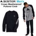 20-21 BURTON バートン トレーナー Crown Weatherproof Pullover Crew クラウン ウェザープルーフ プルオーバー クルーネック メンズ