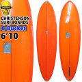 クリステンソンサーフボード CHRISTENSON SURFBOARDS C-Bucket 6'10 シングルフィン [Orange Tint] ポリッシュ仕上げ ツヤあり ファンボード 正規品 [営業所止め送料無料料]