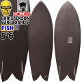 [follows40周年記念特別価格] クリステンソン サーフボード christenson surfboards Fish 5'6 ウッドオンフィン [BROWN TINT] ツヤ無し ショートボード トランジッションボード フィッシュ 正規品 [条件付き送料無料]