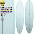 クリステンソンサーフボード CHRISTENSON SURFBOARDS Huntsman ハンツマン  7'0 シングルフィン [MINT] フィン付き サンディング仕上げ ツヤなし ファンボード ミッドレングス [営業所止め送料無料料]