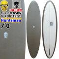 クリステンソンサーフボード CHRISTENSON SURFBOARDS Huntsman ハンツマン  7'0 シングルフィン [D.Green S.Opaque Deck] サンディング仕上げ ツヤなし ファンボード ミッドレングス 正規品 [条件付き送料無料]