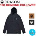 DRAGON ドラゴン 10K BONDING PULLOVER プルオーバー パーカー メンズ SNOW