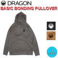 DRAGON ドラゴン BASIC BONDING PULLOVER プルオーバー パーカー メンズ SNOW