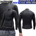 [現品限り特別価格] 2020 Hurley ハーレー ウェットスーツ ジャケット メンズ 0.5mm [MZADJK20] ADVANTAGE PLUS WIND SKIN JACKET アドバンテージ プラス サーフィン 春夏用 ウエットスーツ