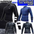 [現品限り特別価格] 2020 Hurley ハーレー ウェットスーツ リバーシブル ジャケット メンズ 1mm [MZLSJK20] ADVANTAGE PLUS REVERSIBLE JACKET アドバンテージ プラス サーフィン 春夏用 ウエットスーツ