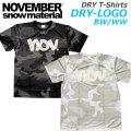2020 NOVEMBER ノベンバー スノーボード DRY-LOGO BW WW [6] [7] ドライTシャツ 半袖 Tシャツ ユニセックス